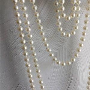 "Jewelry - Bundle of 5 faux pearl necklaces Drop 8"" -24"" EUC."